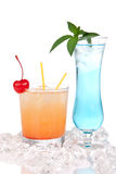 Margarita cocktail Long island iced tea Royalty Free Stock Photos