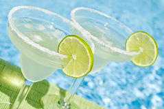 Margarita Cocktail by the Pool Stock Photography