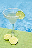 Margarita Cocktail by the Pool Stock Photo