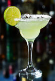 Margarita cocktail. With slice of lime Stock Photo