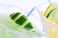 Margarita cocktails closeup Stock Photos