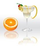 Margarita con la naranja Imagenes de archivo