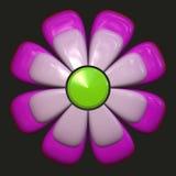 Margarita con los pétalos púrpuras stock de ilustración
