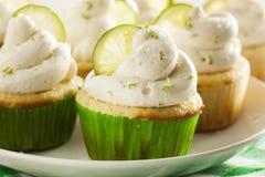 Margarita Cupcakes casalinga con glassare fotografia stock libera da diritti