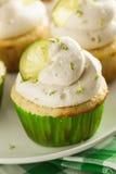 Margarita Cupcakes casalinga con glassare fotografie stock