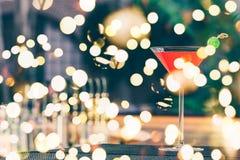 Margarita della fragola al supporto della barra Concetto di lusso di vacanza fotografia stock