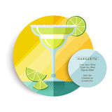 Margarita drink recipe menu for cocktail party Royalty Free Stock Images