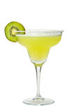 Margarita drink with salt on glass rim Stock Photos