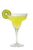 Margarita drink with salt on glass rim. Margarita with salt and kiwi on glass rim stock photos