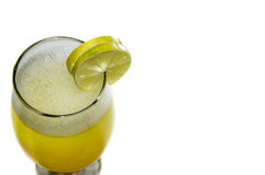Margarita Drink with Two Slices of Lime Royalty Free Stock Images