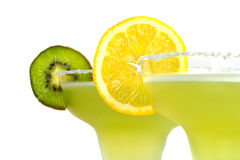 Margarita drinks with lemon and kiwi Stock Photo