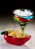 Margarita e chip Fotografia Stock