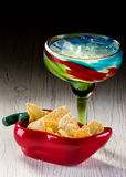 Margarita e microplaquetas Imagens de Stock Royalty Free