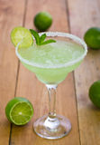 Margarita in einem Glas Stockbild