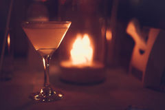 Free Margarita Iced Cocktail In Martini Glasses In Front Of The Night Bokeh Lights On Blurred Candle Background Royalty Free Stock Photo - 96910415
