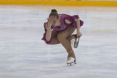 Margarita Kostenko from Russia performs Gold Class V Girls Free Skating Program on National Figure Skating Championship Stock Image