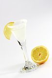 Margarita with Lemon. Slices in a glass stock photography