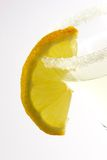 Margarita with Lemon Slice. Close up of a margarita with lemon slice in a glass Royalty Free Stock Image