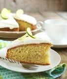 Margarita Lime Cake. Piece of Margarita Lime Cake Stock Photo