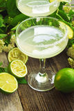 Margarita lime cocktail. Tasty lime cocktail,glass of margarita drink Royalty Free Stock Photos