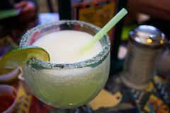 Margarita with lime Stock Photography