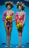 Margarita Mamun en Yana Kudryavtseva van Rusland Stock Foto's