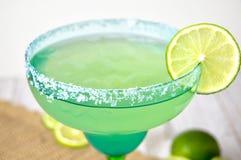 Margarita med limefruktskivan Royaltyfri Fotografi