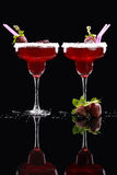 Margarita ou smoothie da morango Imagens de Stock