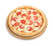 Margarita pizza odizolowywająca na bielu Zdjęcie Royalty Free
