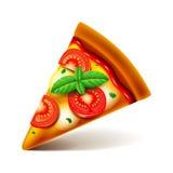 Margarita pizza slice isolated on white vector Stock Photos