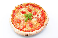 Margarita pizza on a white background Stock Photos