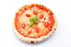 Margarita pizza on a white background Royalty Free Stock Photos