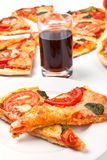 margarita pizzy plasterki Obrazy Royalty Free