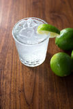 Margarita on the Rocks. On the rocks with salt and lime Royalty Free Stock Photos