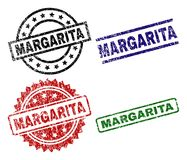 MARGARITA Seal Stamps texturisée grunge illustration stock