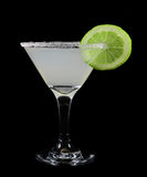 Margarita with a slice of lime fruit Stock Photography