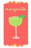 Margarita su colore rosso Fotografia Stock