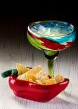 Margarita und Chips Lizenzfreie Stockbilder