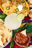 Margarita und mexikanisches Lebensmittel Lizenzfreies Stockfoto