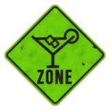 Margarita Zone Sign imagens de stock