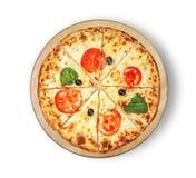 Margaritapizzaklassiker Arkivbild