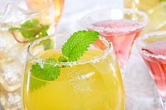 Margaritas avec du sel Photographie stock