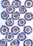 Margaritas azules stock de ilustración