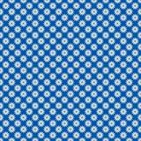 Margaritas blancas en azul brillante stock de ilustración