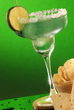 Margaritas and corn tortilla chips - close up Stock Image