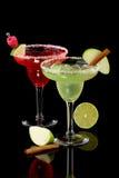 Margaritas d'Apple et de framboise - la plupart de coc populaire photographie stock libre de droits