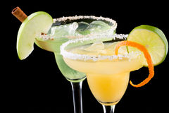 Margaritas da laranja e do Apple - a maioria de cockta popular imagens de stock