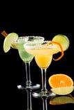 Margaritas de la naranja y de Apple - la mayoría del cockta popular Fotografía de archivo libre de regalías