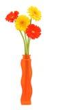 Margaritas del Gerbera Imagen de archivo libre de regalías