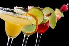 Margaritas - die meiste populäre Cocktailserie stockfotos